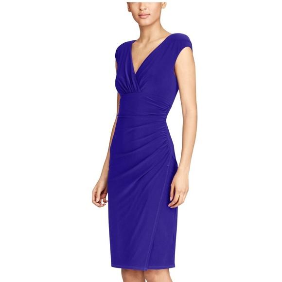 cc37900a Lauren Ralph Lauren Dresses | Ralph Lauren Adara Shirred Jersey ...